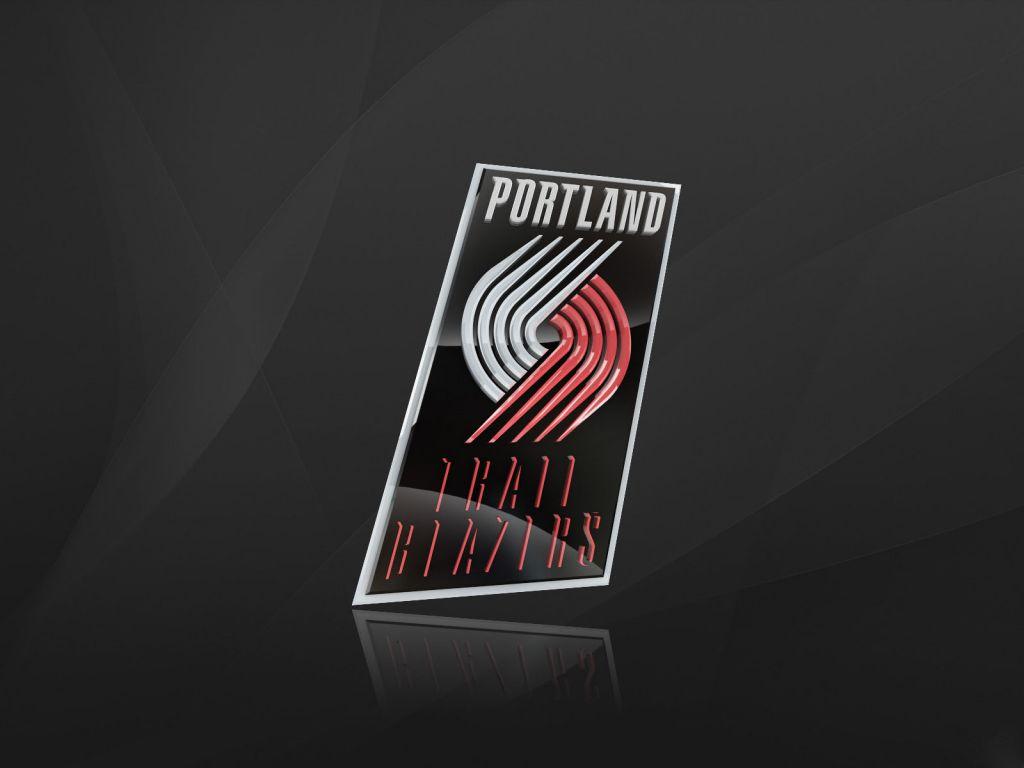 Portland Trail Blazers Logo 3D wallpapers HD