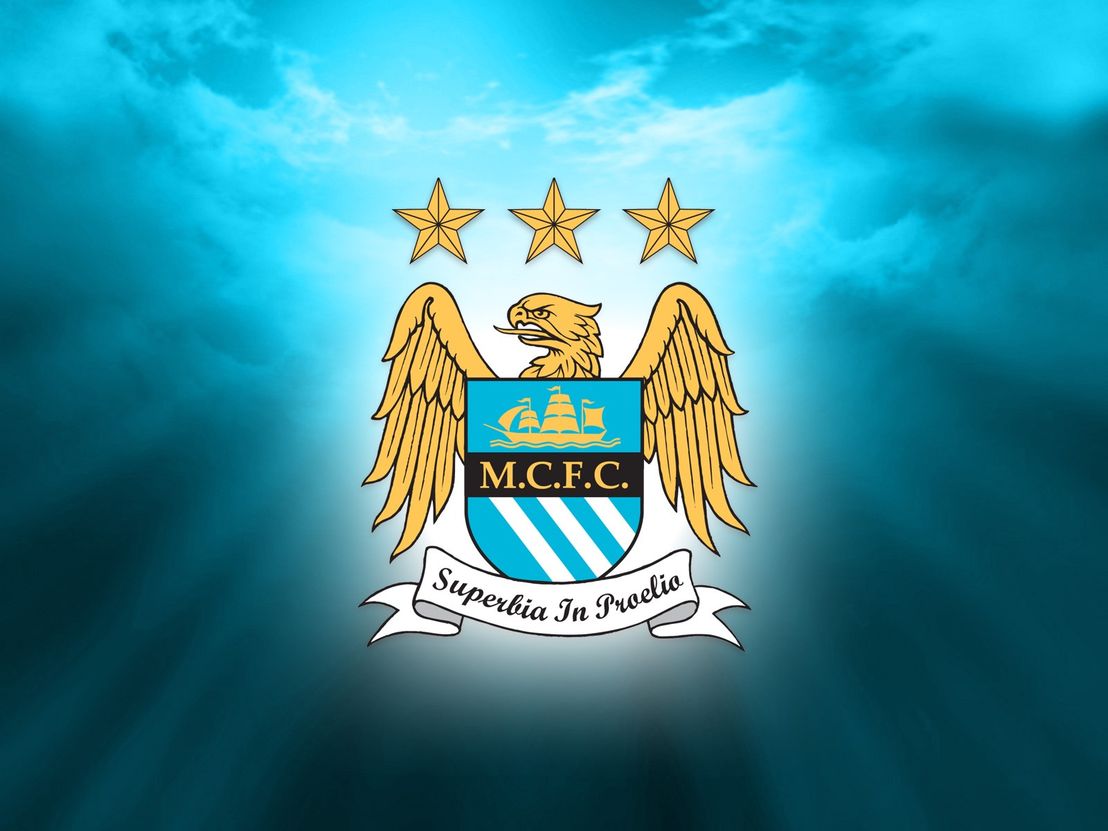 Manchester City FC Logo 3D wallpapers HD