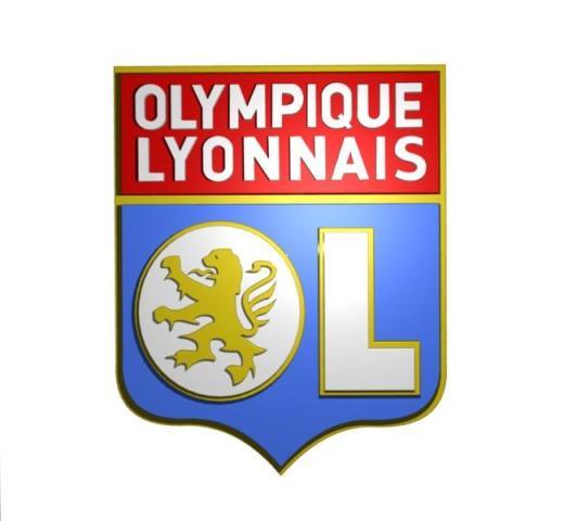 Olympique Lyonnais Logo 3D wallpapers HD