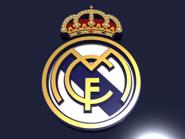 Real Madrid CF Logo 3D wallpapers HD