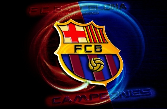FC Barcelona Logo 3D download in high quality