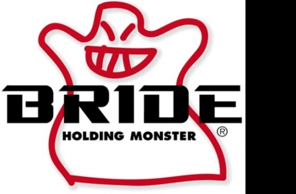 Bride Holding Monster Logo download in high quality